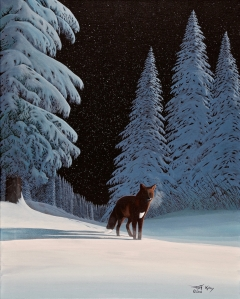 Fox in Winter Moonlight